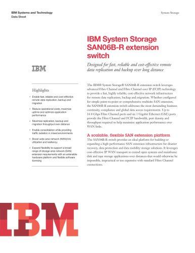 IBM System Storage SAN06B-R