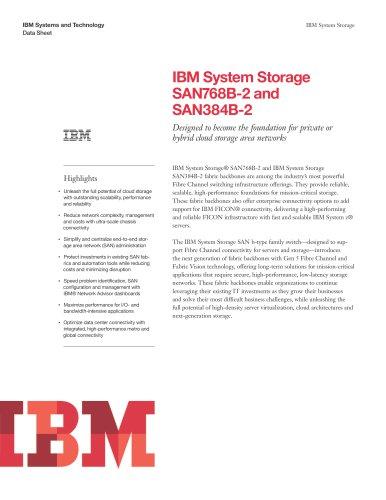 IBM System Storage SAN768B-2 and SAN384B-2