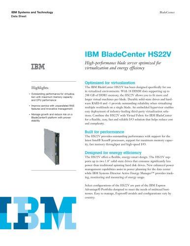 IBMBladeCenter HS22V