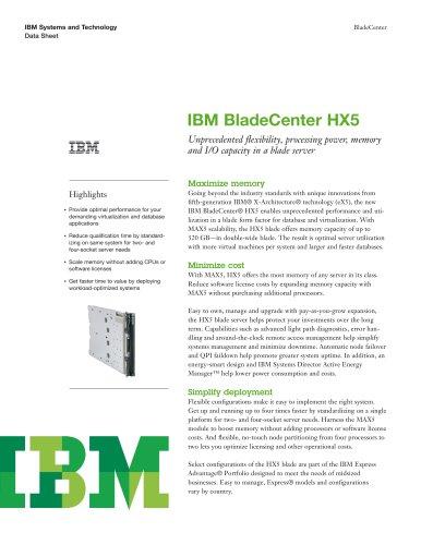 IBMBladeCenter HX5