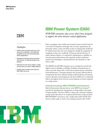 Power System E880