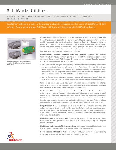 CAD productivity software for design comparison