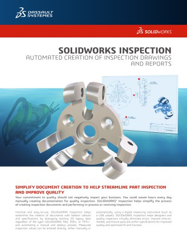 SOLIDWORKS Inspection Datasheet