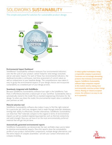 SOLIDWORKS SUSTAINABILITY