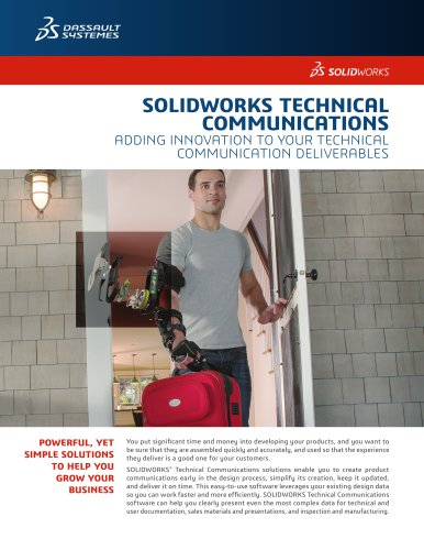 SOLIDWORKS Technical Communication Data Sheet