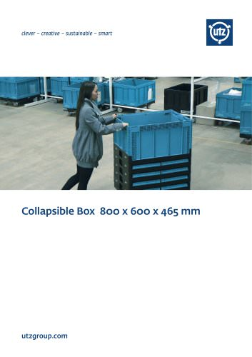 Collapsible container 800x600 mm