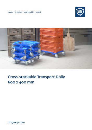 Cross stackable Transport Dolly 600x400 mm