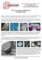 Sub-contracting in heatsealing : EMBATHERM's solutions