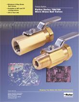 Parker Series 708 - 709 Micro Brass Ball Valves - 1