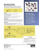 Parker Series 708 - 709 Micro Brass Ball Valves - 2