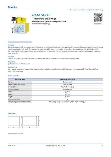 09980134 Bloqueos contra reconexiones Tytan II D0 WES-M-ge