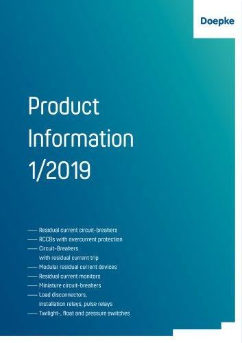Product Information 1/2019