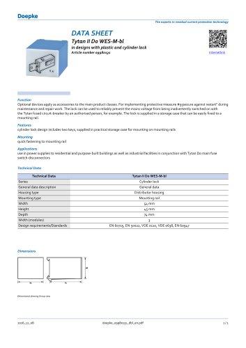 Restart locking facilities Tytan II D0 WES-M-bl
