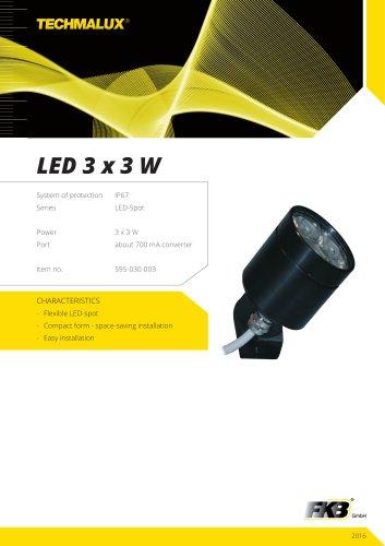 LED 3 x 3 W