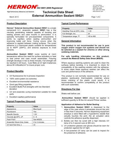 External Ammunition Sealant 59521