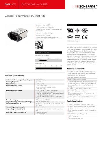 EMC/EMI Products FN 9222