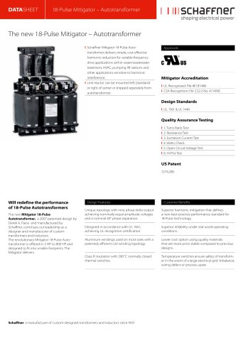 The new 18-Pulse Mitigator – Autotransformer