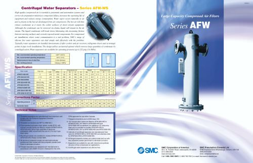 compressed air filters and centrifugal water separators
