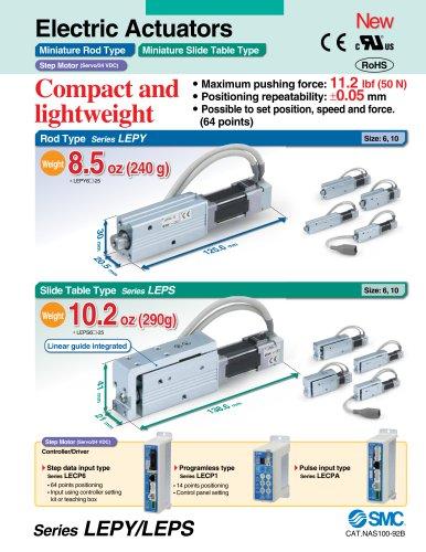 LEPY, Electric Actuator Miniature Rod Type, Step Motor (Servo/24VDC)