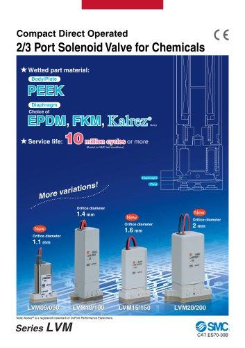 2//3 Port SMC LVM105R-6B-Q Solenoid Valve for Chemicals