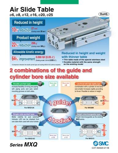 MXQ*B, Air Slide Table, Low Thrust w/High Rigidity Type