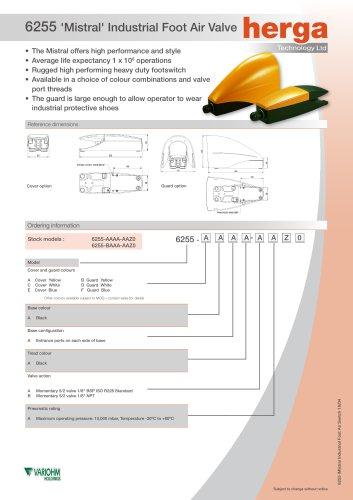 6255 'Mistral' Industrial Foot Air Valve