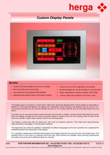 Custom Display Panels