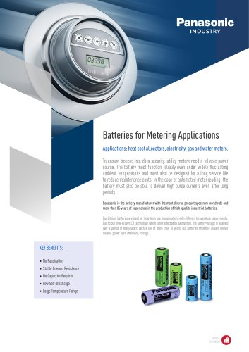 Lithium Batteries Leaflet for Metering Applications