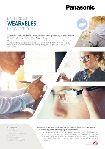 Panasonic Li-Ion Pin Type Batteries Leaflet Wearables