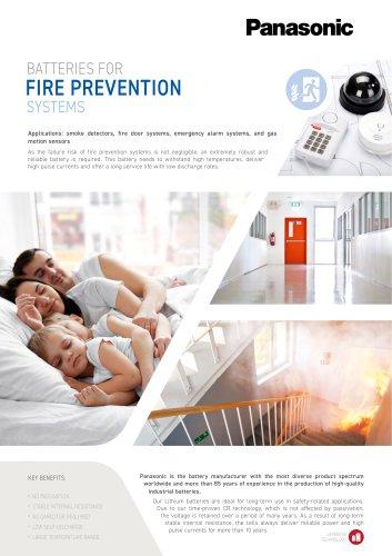 Panasonic Lithium Batteries Leaflet Fire Prevention Systems