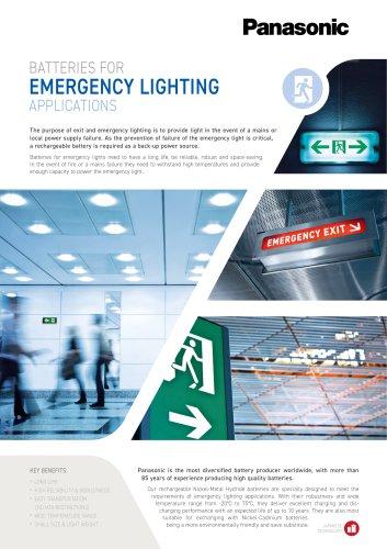 Panasonic Ni-MH Batteries Leaflet Emergency Lighting
