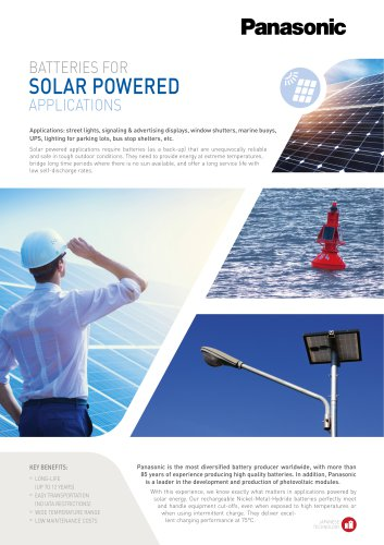 Panasonic Ni-MH Batteries Leaflet Solar Power