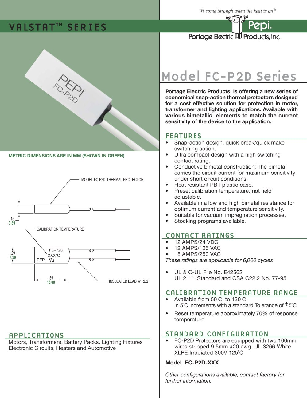 Model Fc P2d Series Portage Electric Products Inc Pepi Pdf Case Vac Wiring Diagram 1 2 Pages