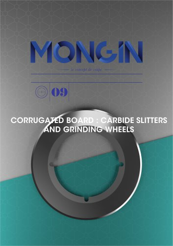 CORRUGATED BOARD : CARBIDE SLITTERS AND GRINDING WHEELS