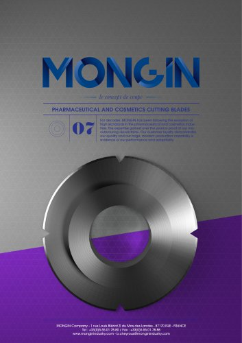 PHARMACEUTICAL AND COSMETICS CUTTING BLADES