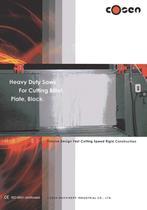 Cosen Heavy Duty Saws Billet Plate Block Brochure