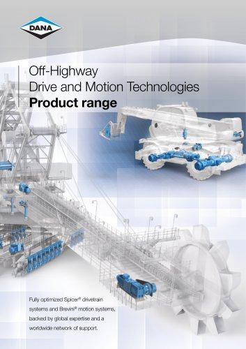 Off-highway Product Range