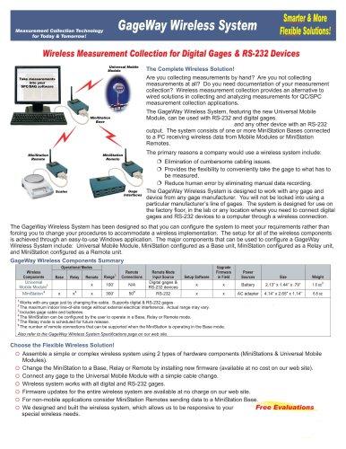 gageway wireless system