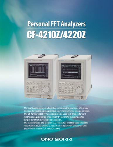 Personal FFT Analyzers