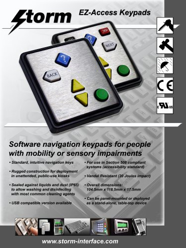 Storm Interface EZ Access Keypad