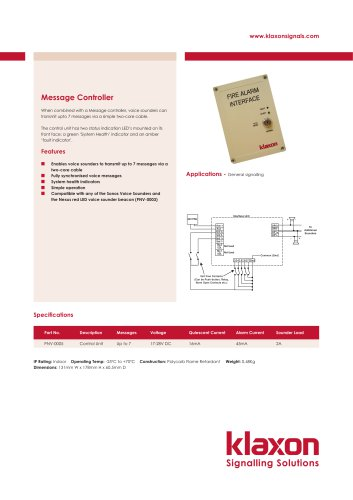 Message Controller - Industrial Control Systems