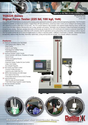 Chatillon digital force tester (TCD225 Series)