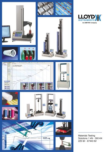 Materials Testing Solutions Brochure (1 kN-300 kN)