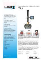 TA1 Texture Analyzer