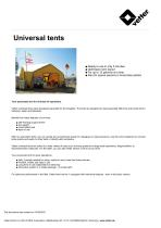 Universal tents