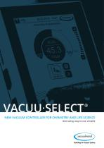 VACUU·SELECT  NEW VACUUM CONTROLLER FOR CHEMISTRY AND LIFE SCIENCE