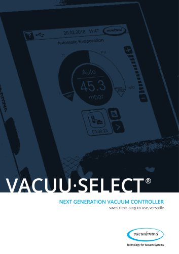 VACUU·SELECT - Next generation vacuum controller