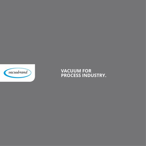 Vacuum for Process Industry