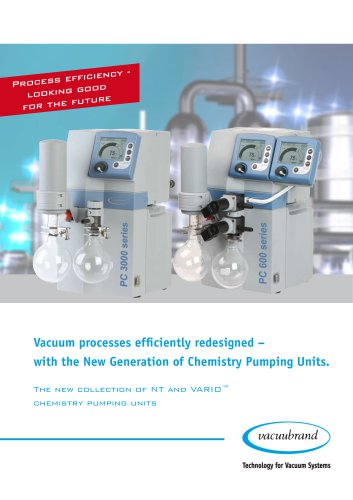 Vacuum processes efficiently redesigned – with the new generation of chemistry pumping units