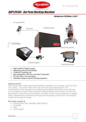 ADP120160- Dot Peen Marking Machine
